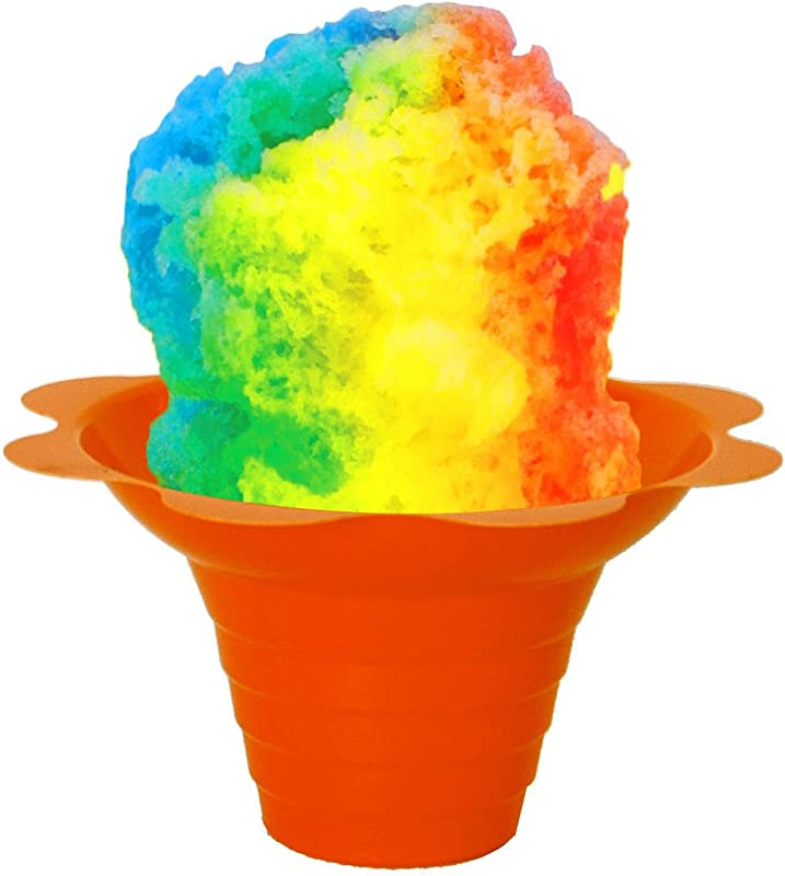 Flower Cups For Serving Shaved Ice Or Snow Cones 4 Oz Case Of 500