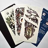 Kotbs 3 Sheets Mix Robot Arm Body Sticker Tattoo Art Make up for Men Temporary Tattoos Paper Waterproof