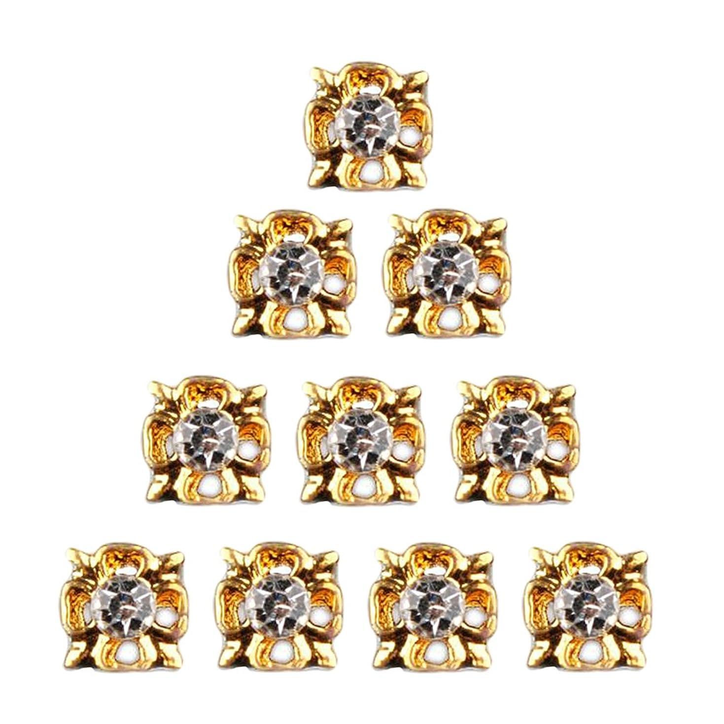 医療のすずめ塗抹ネイルアート ダイヤモンド ネイルデザイン 3D ヒントステッカー ネイルデコレーション 全8種類 - 4