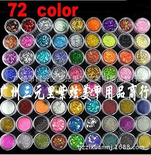 Max 42% OFF service Gabcus 72pcs lot Glitter POTS Nail FACE Body and Art Cosmetic Ar