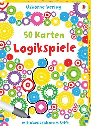 50 Karten: Logikspiele: mit abwischbarem Stift