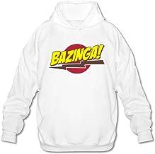 FZLB Men's Bazinga Big Bang Theory T-Shirt Long Sleeve Hooded Sweatshirt Ash