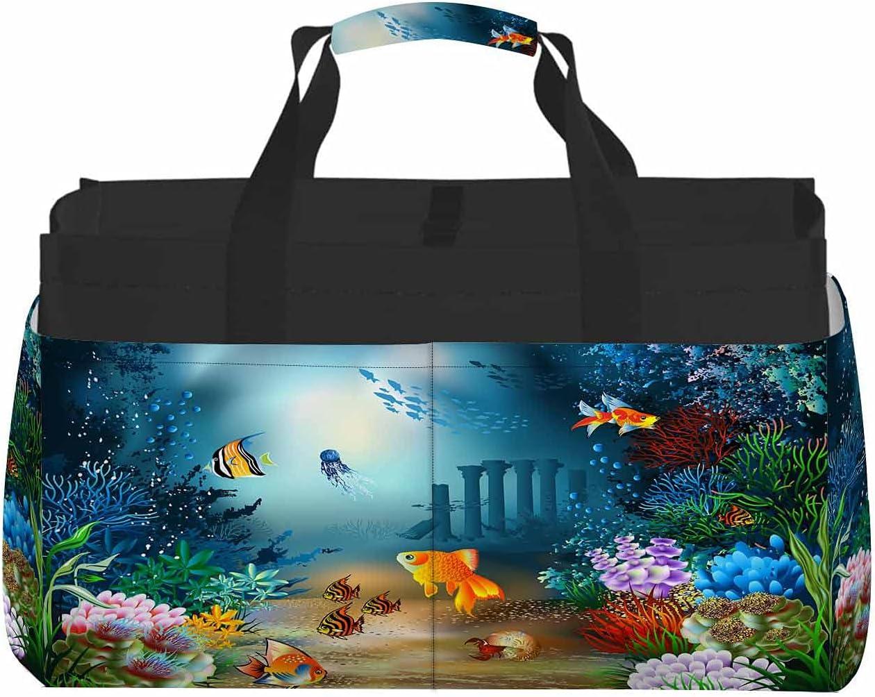 WONDERTIFY Fish Plants Max 53% OFF Large Tote World O Seaweed Luxury Bag Underwater