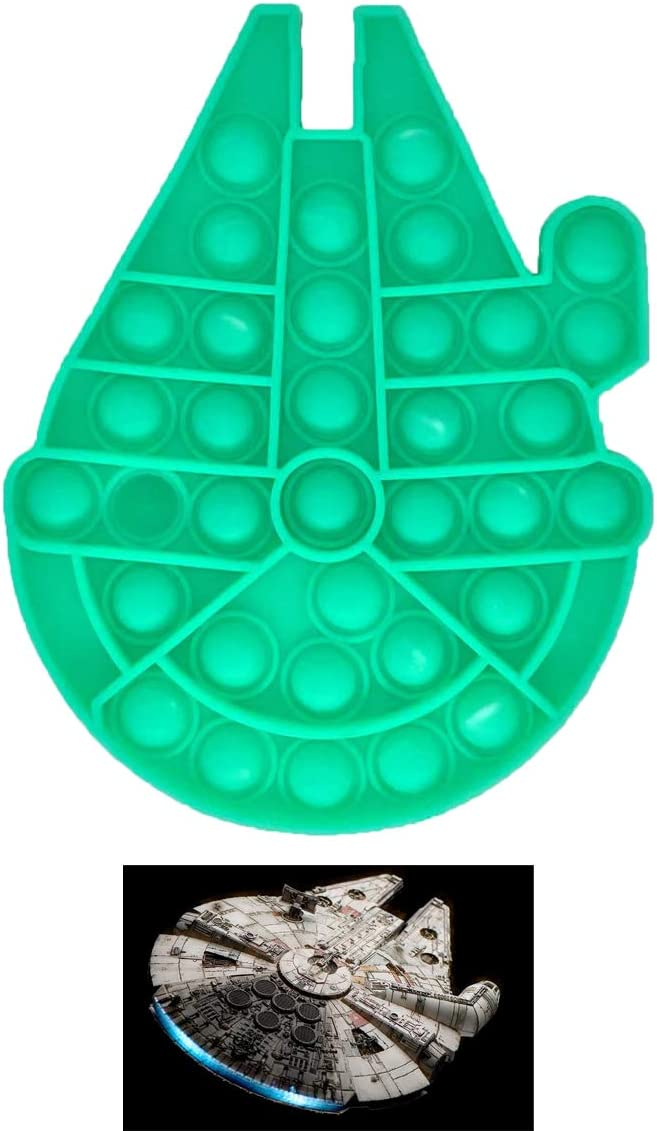 Falcon Shape Push Popping Bubble Sensory Fidget Toy Autism Special Needs Stress Reliever Silicone Toy 3PCS Colorful