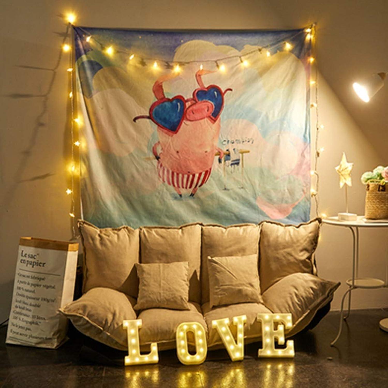 JTWJ 北欧スタイルの背景布イン風ハング布寮の改修壁布ベッドヘッド壁タペストリー寝室の装飾51.1X59.0in (Color : A)