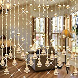 Champagne Glass Crystal Beads Curtain 1M 15pcs