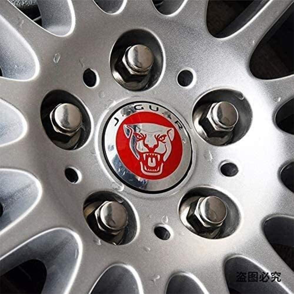 59mm 4 STK Auto Rad Mittelkappen Hub Caps Badge Logo f/ür J-Aguar XJ XF XK XE,Schwarz