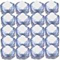 JYtrend Super Bright LED Floral Tea Light Submersible Lights for Party Wedding (White, 20 Pack) by USAHITEC