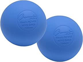 Champion Sports Colored Lacrosse Balls: Blue Official Size Sporting Goods Equipment for Professional, College & Grade School Games, Practices & Recreation - NCAA, NFHS and SEI Certified - 2 Pack