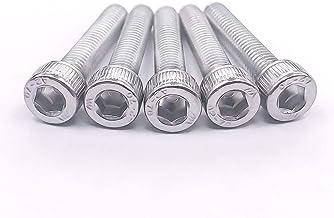M10-1.5x25mm Socket Head Cap Bolts Screws, 304 Stainless Steel 18-8, Allen Socket Drive, Fully Machine Thread, Bright Finish, 10 pcs by Eastlo Fastener
