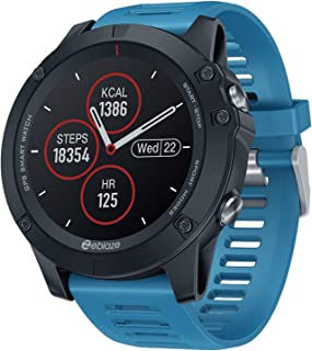 RNNTK Reloj Inteligente Bluetooth Rastreador De Actividad, Smartwatch (con Frecuencia Cardíaca Y Monitor De Sueño) Monitor De Presión Arterial Reloj Inteligente,para iOS Android-Azul