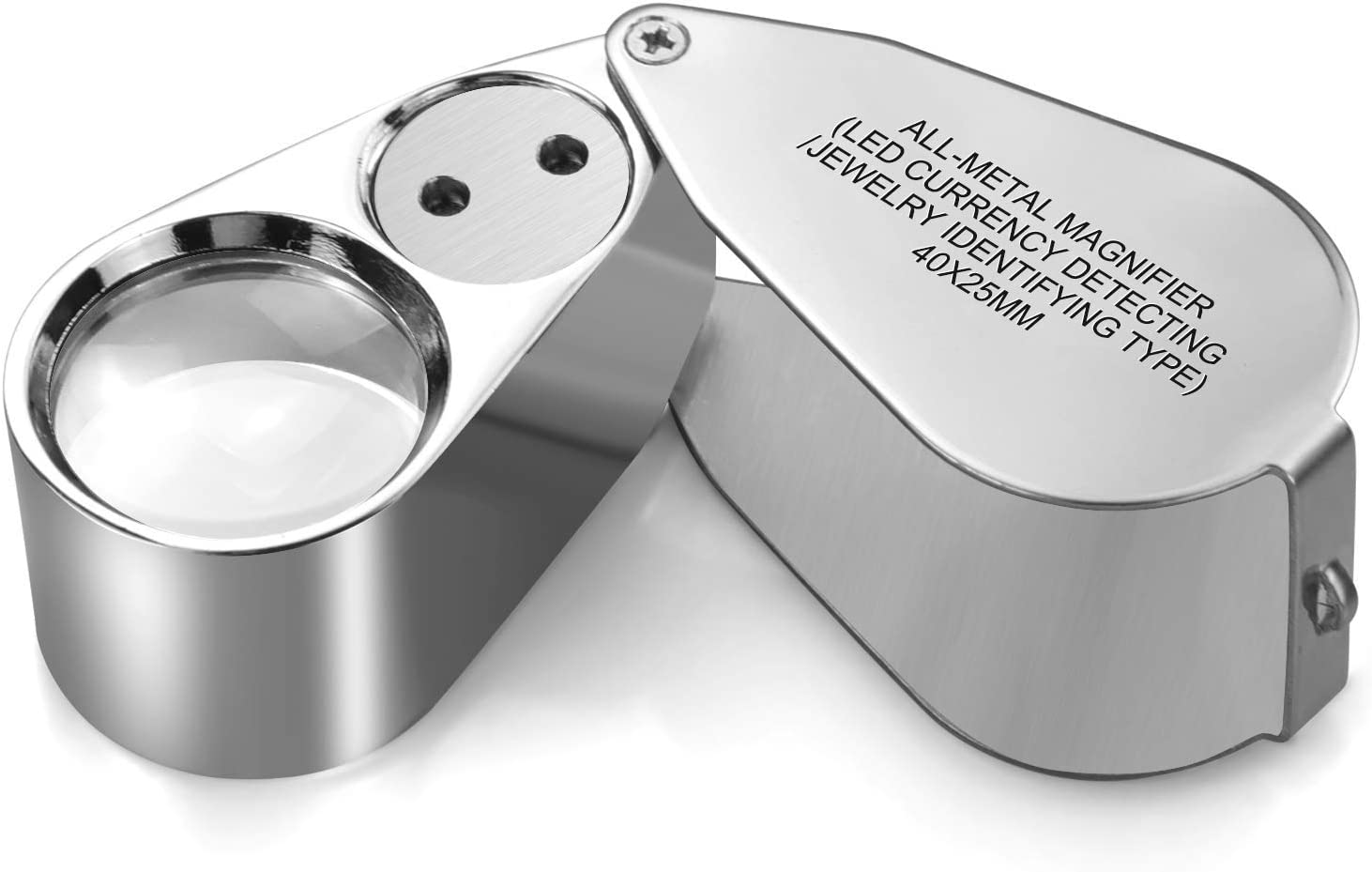 Leffis 40X Jewelers Loupe Magnifier UV I online Houston Mall shop LED Glasses Magnifying