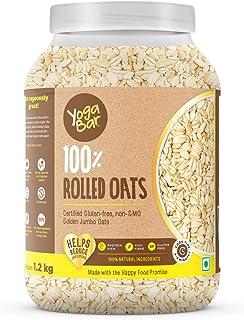 Yogabar 100% Rolled Oats 1.2 kg | Premium Golden Rolled Oats, Gluten Free Oats with High Fibre, 100% Whole Grain, Non GMO,...