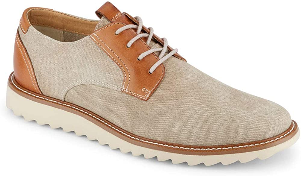 Dockers Mens Edison Smart Series Dress Casual Canvas Oxford Shoe with Stain Defender