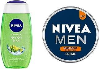 NIVEA Shower Gel, Lemon & Oil, 250ml and NIVEA MEN Cream, Dark Spot Reduction, 150ml
