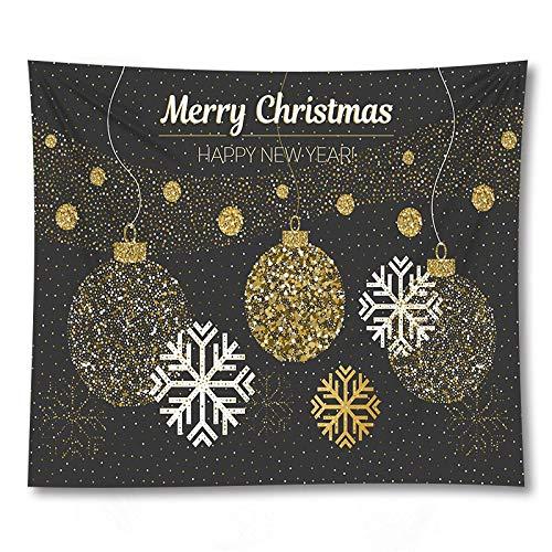 PPOU Feliz árbol de Navidad Arte de la Pared Tapiz Colgante de Pared sofá Manta decoración del hogar Fondo Tapiz de Tela A4 73x95cm
