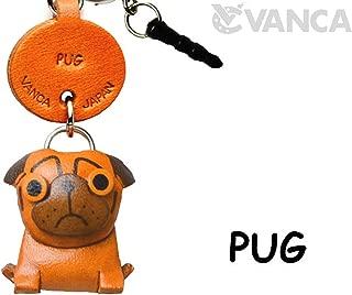 Pug Leather Dog Earphone Jack Accessory / Dust Plug / Ear Cap / Ear Jack *VANCA* Made in Japan #47751