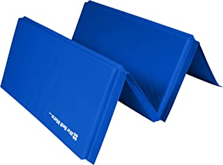 We Sell Mats 4 ft x 8 ft Gymnastics Mat, Folding Tumbling Mat, Portable with Hook &..