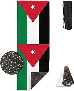 Jinyimingpi Yoga Mat Jordan Flag Non Slip High Density Anti-Tear Premium Pilates Floor Exercise Fitness Pad with Carrying Bag 71