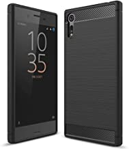 NALIA Silicone Case Compatible with Sony Xperia XZ, Ultra-Thin Case Protective Phone Cover Rubber-Case Gel Soft Skin, Shockproof Slim Back Bumper Protector Smartphone Backcase Shell - Black
