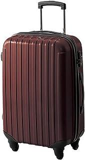 キャリーバッグ キャリーケース スーツケース ブラウン 20インチ ファスナー 軽い 幅38×奥行23×高さ54.5~96cm 33リットル