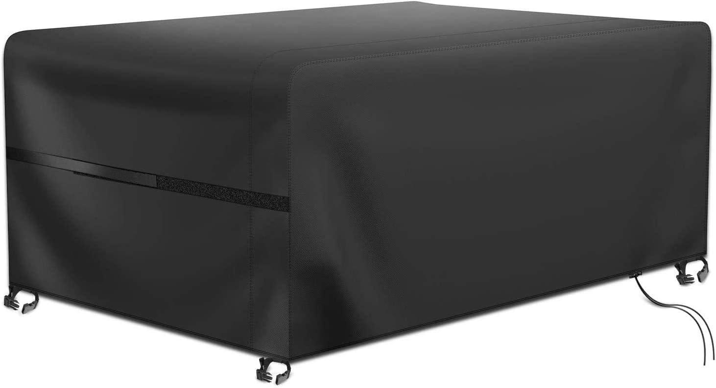 RATEL Protectora para Muebles de jardín, Funda para Muebles de Jardín Impermeable a Prueba de Viento Paño Oxford 420D Cubierta de Mesa de jardín Grandes(242x162x100cm)