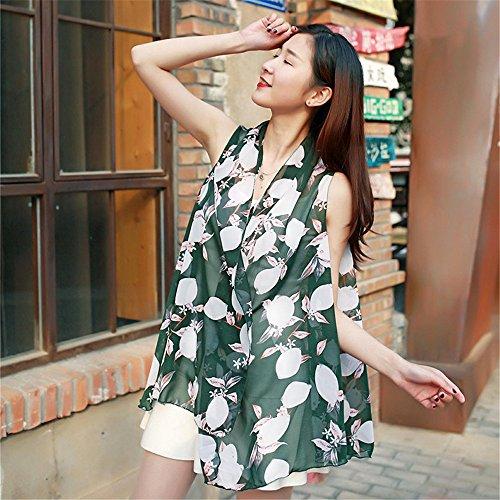 YRXDD Variété châle écharpe écharpe Multi-Fonctionnelle Mousseline décorative Mousseline de Soie été vêtements de Plage Femme Serviette de Plage,Vert foncé 180 * 110cm