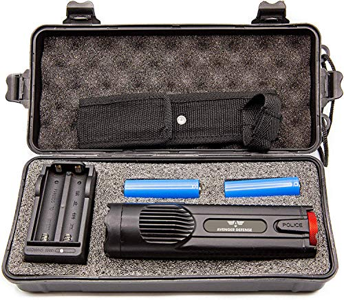 Avenger Defense Ultra-Powerful Series Rechargeable Stun Gun – 1.9uC Charge Portable Stun Gun –...
