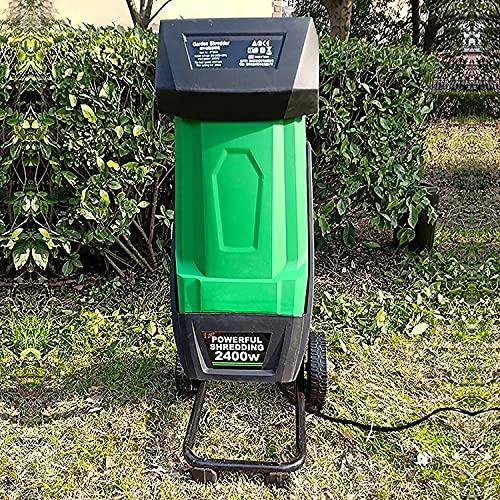 FASSTUREF Trituradora de Madera Multifuncional, trituradora de Ramas de Hojas, trituradora eléctrica de 2400 W, Herramienta de jardín, Capacidad máxima de Corte de 1,77 Pulgadas