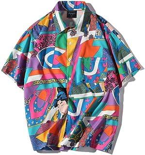 Camicia Uomo LandFox Slim Fit Maglietta del Ricamo della Maglietta delle Camicie della Maglietta della Camicia della Manica Lunga Irregolare Casuale Casuali degli Uomini Camicie Casual