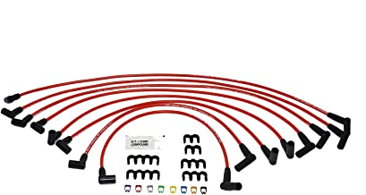 A-Team Performance Silicone Spark Plug Wires Set Compatible With SBF Small Block Ford Valve Cover Wires 221 255 260 289 302 351W BOSS 302 Fits HEI Distributor Caps - Red 8.0mm