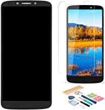 XR MARKET Compatible Motorola Moto G6 Play Screen Replacement, LCD Display Touch Screen Digitizer Assembly Part, for XT1922-2 XT1922-9 5.7 Inch 150mm, with Tools, Screen Protector(Black)