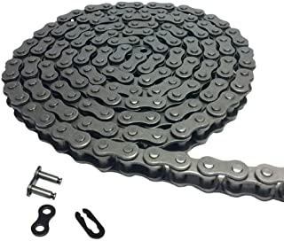 Aobbmok 5Ft 08A 40 Roller Chain with 1 Connecting Link For Go Kart, Mini Bike Chain Replacements