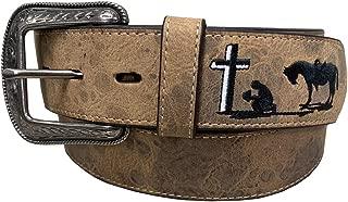 Leather Vintage Praying Cowboy Belt