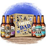Red Rock Brewery Cheers Dad Mixed Craft Beer Gift Set - 6 Bottles In A Presentation Box – Perfect Gift Hamper for Dad On Birthday or Fathers Day