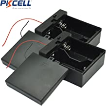 2-Slot D Size Battery Holder Contain Two Wires with Cover and Switch (2pc)