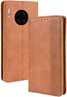 Leather Case Compatible with Huawei Mate 30 Pro,PU Leather+Soft Inner Design Business Magnetic Closure Flip Wallet Case Cover Phone case (Color : Brown)