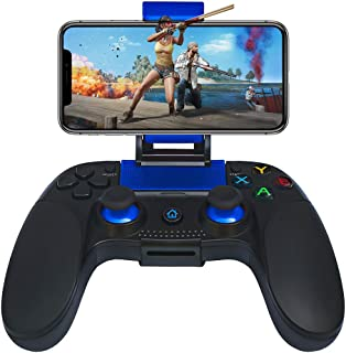 PowerLead ゲームパッドPG8718 ゲームコントローラー Bluetooth 4.0 ワイヤレスゲームパッドPUBG/Fotnite/moreに対応 iOS/Android/iPhone/iPad/Samsungギャラクシーなどをサポート ダイレクトプレイ