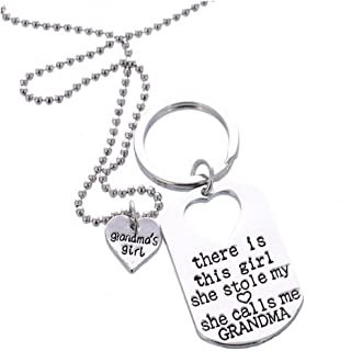 TOPUNDER Hot Letter Heart Keychain Key Ring Necklace Daddy Daughter Dad Father Girls by