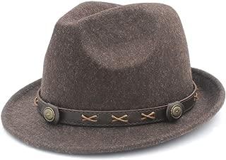 100% Wool Women Men Winter Fedora Hat for Elegant Lady Dad Steampunk Church Hat Derby Cloche Jazz Caps