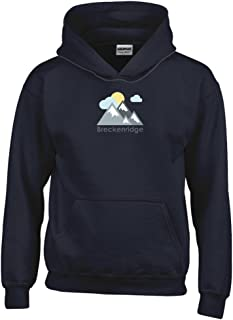 Breckenridge, Colorado Mountains and Clouds in Color Youth Hoodie - Kids Sweatshirt