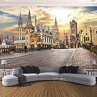 Djskhf カスタム写真壁紙壁画ヨーロッパ都市ストリートビュー3Dリビングルーム寝室の背景壁絵画アート壁紙家の装飾 240X165Cm