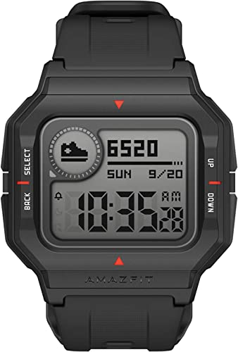 Amazfit Neo Smart Watch, Retro Design, 28-Day Battery Life, Always-on Display, 5ATM Water Resistant, Lightweight, 4 P...