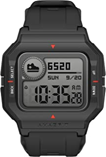 Amazfit Retro Design, 28-Day Battery Life, Always-on Display, 5ATM Water Resistant, Lightweight, 4 Physical Buttons, Heart...