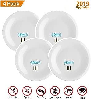 SWN Repelente Ultrasónico, 4Pack Multifuncional Repelente Mosquitos Electricos, con Frecuencia Sónica, Control de Ratones/Moscas/Mosquitos/Hormigas/Bichos/Cucarachas.(4 Pack)
