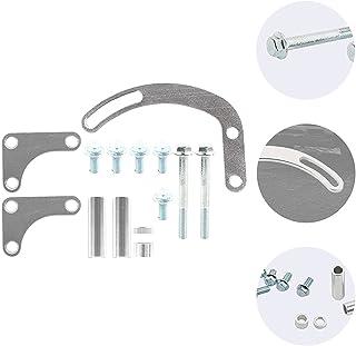 Prospective 1 Set Power Steering Pump Support Bracket Rack Billet Adjustable Car Pump Parts (Color : Silver)