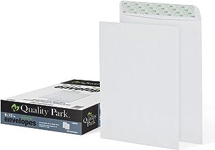 "Quality Park 9"" x 12"" Self-Sealing Catalog Envelopes, for Mailing, Organizing and Storage, White Wove, Heavy 28-lb Paper, 100 Per Box (QUA44582)"