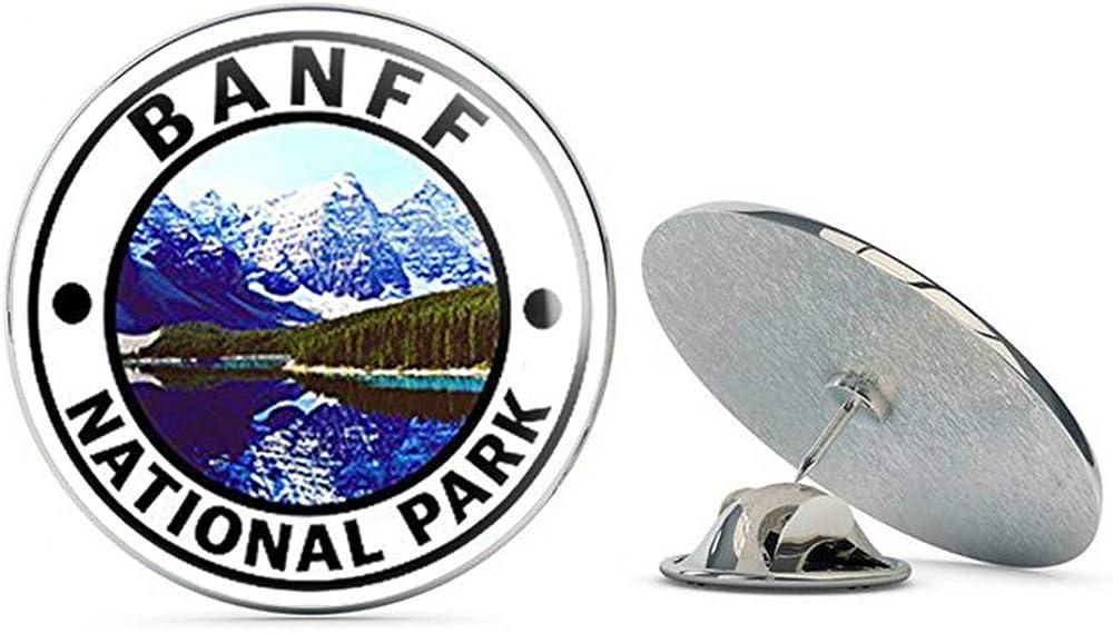 NYC Jewelers Round Banff National Park (Hike Travel rv Canada Alberta) Metal 0.75