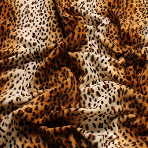 Stoff am Stück Stoff Polyester Plüsch Leopard Fellimitat Fell Safari velboa Imitat