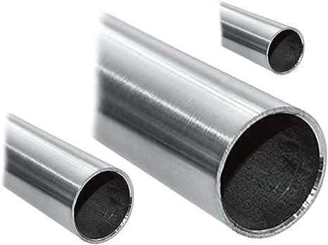 Edelstahlrohr V2A Edelstahl Gel/änder Rohr Rundrohr geschliffen Korn 240 verschiedene Durchmesser und L/ängen D=76,1x2 mm/², L/änge 900 mm - 90 cm andere L/ängen bis 6 m auf Anfrage m/öglich
